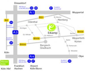 Modellkarte zur Orientierung - Hotel Eikamper höhe